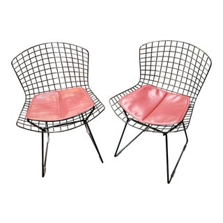 Harry Bertoia for Knoll Wire Chairs a Pair For Sale