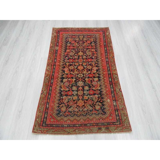 Islamic Antique Distresssed Small Persian Malayer Rug - 3′3″ × 5′9″ For Sale - Image 3 of 6