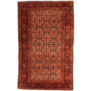 Late 19th Century Antique Persian Farahan Rug - 3′2″ × 5′1″ For Sale