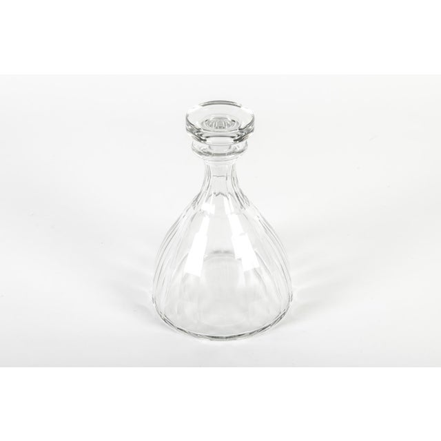 Crystal 1960s Acid Etched Baccarat Decanter For Sale - Image 7 of 8
