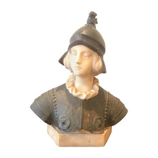 Joan of Arc Alabaster Bust, 19th Century For Sale