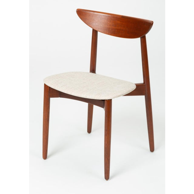 Danish Modern 1960s Single Teak Dining / Accent Chair by Harry Østergaard for Randers Møbelfabrik For Sale - Image 3 of 13
