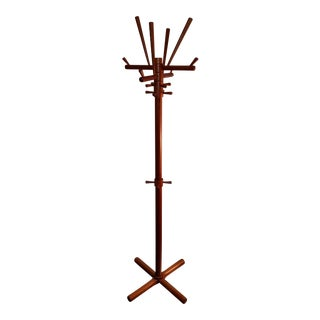 1960s Vintage Danish Style Sculptural Teak Coat Rack For Sale