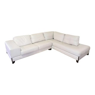 Italian Leather Sectional Sofa For Sale