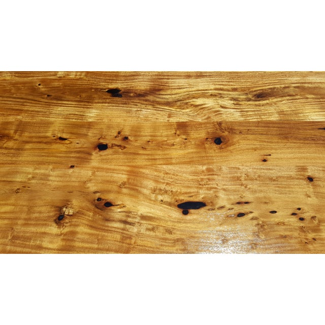Acacia Wood Live Edge Dining Table - Image 8 of 9