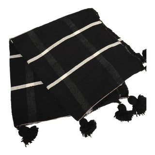 London Plaid Black + White Throw Blanket