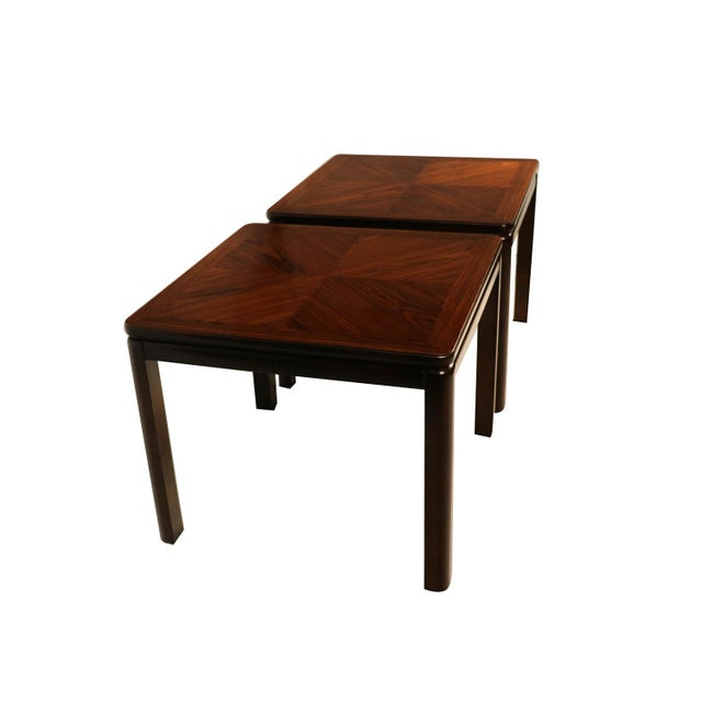 Mid-Century Modern Pair Mid Century Lane Rosewood Side Tables For Sale - Image 3 of 11