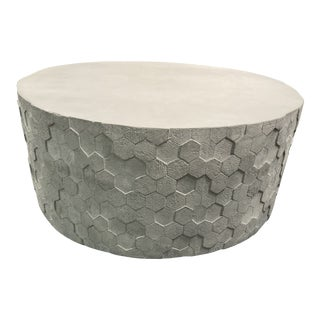 Athena Round Drum Coffee Table For Sale