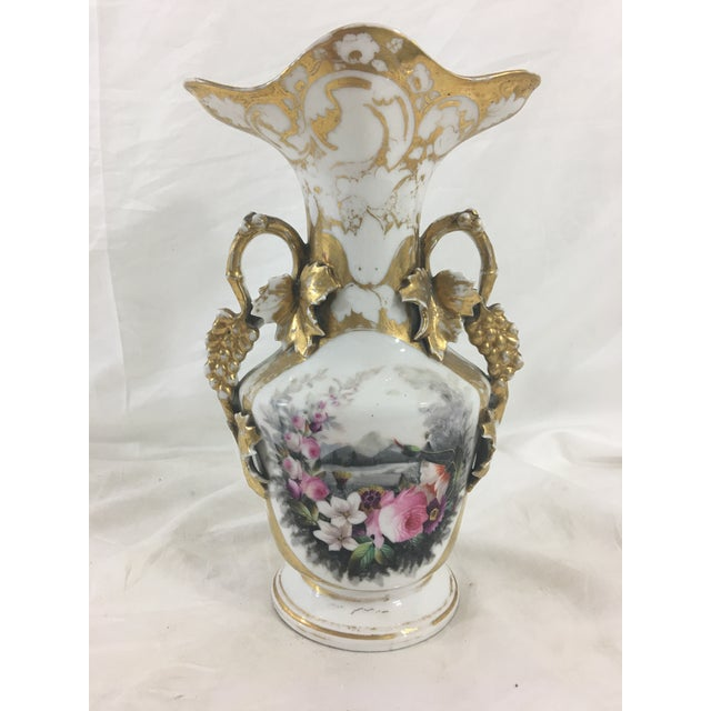 Old Paris Painted and Gilded Vase For Sale - Image 9 of 9