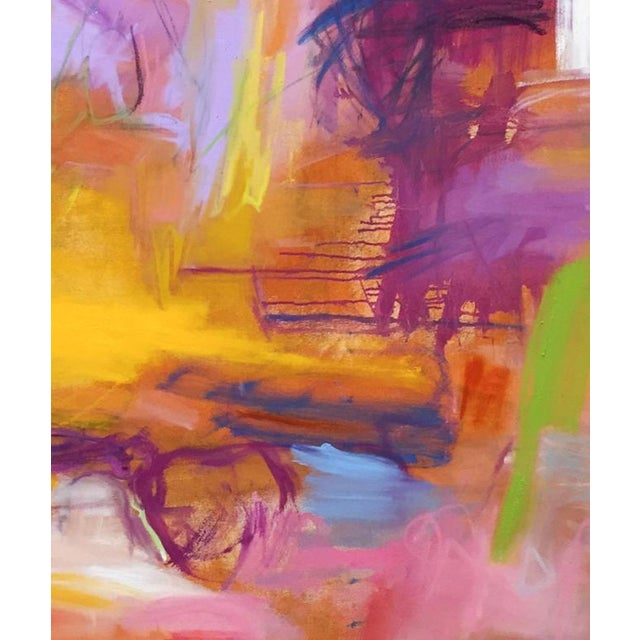 """Marrakesh"" is an award winning large, lyrical abstract expressionist oil painting on canvas by the Chairish's ""Super..."