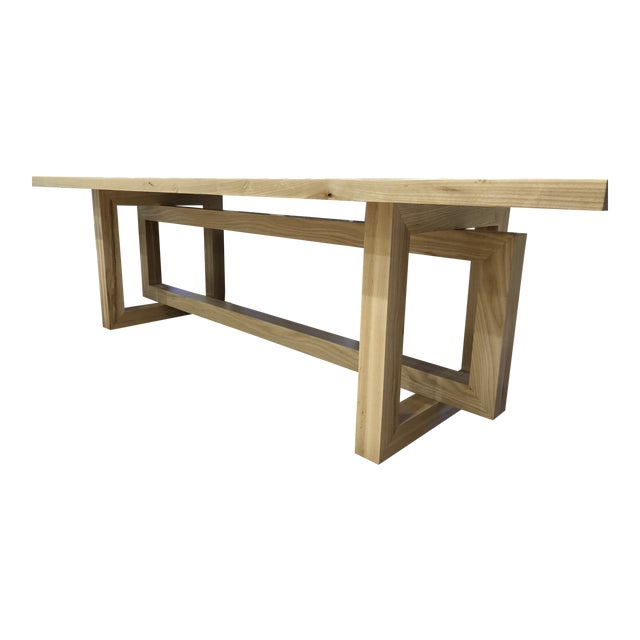 Country Custom Built Dining Room Table For Sale