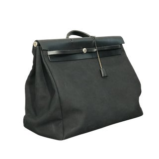 Hermès Black Herbag XL For Sale