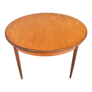 G Plan Fresco Round Teak Dining Table With Butterfly Leaf For Sale
