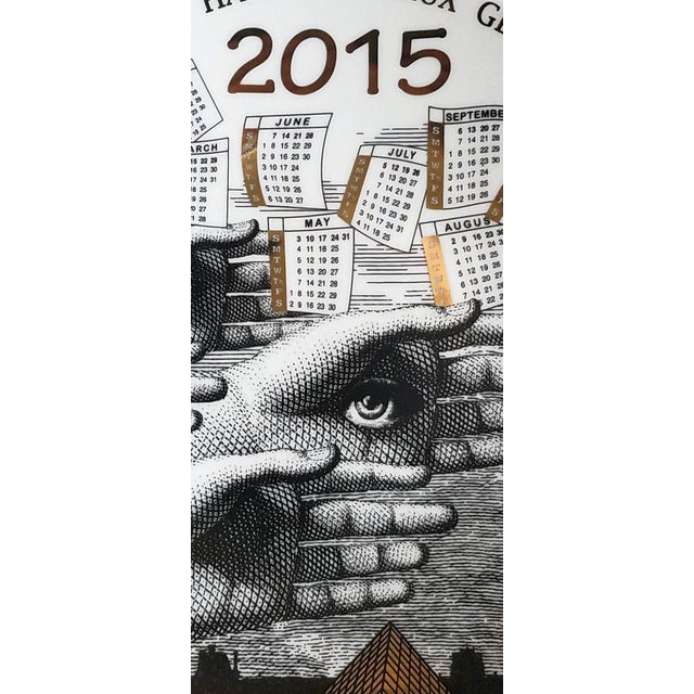 Contemporary Barnaba Fornasetti Calendar Plate for 2015 For Sale - Image 3 of 4
