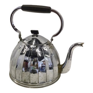 1920 Chrome Stove Top Water Kettle For Sale