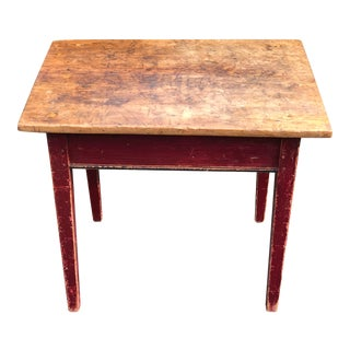 Antique Early American Pine Table For Sale