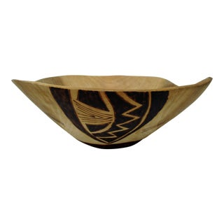 Free Form Wood Centerpiece Bowl For Sale