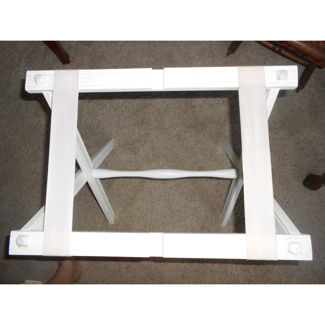 Lap Tray Side Table Antique White | Chairish