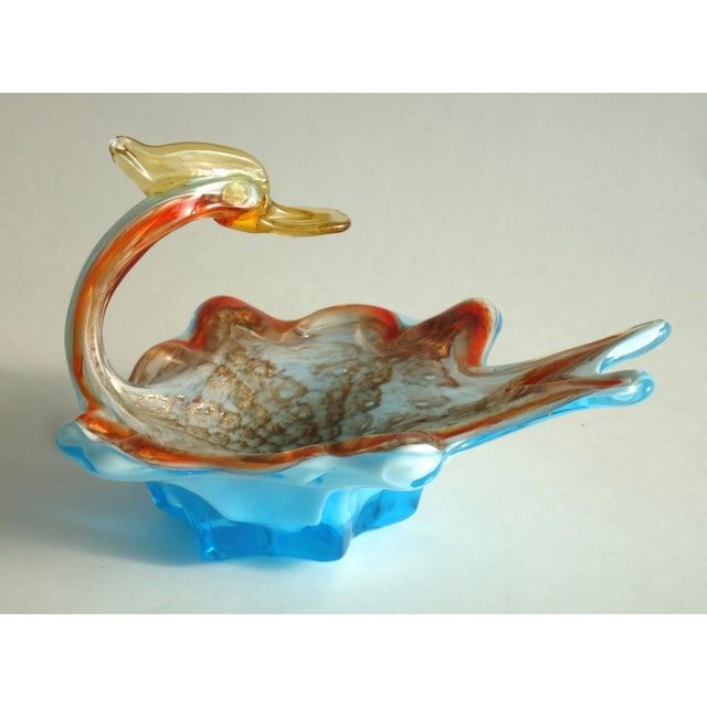 Mid-Century Modern Murano Duck Catchall Decorative Dish For Sale - Image 5 of 5