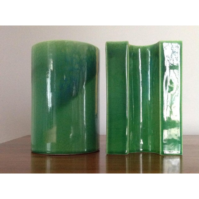 Raymor Green Ceramic Bookends - A Pair - Image 4 of 8
