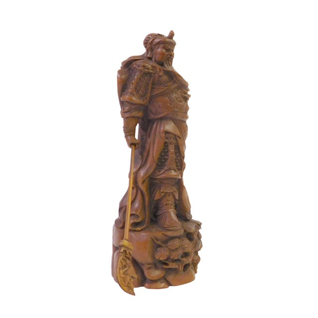 Chinese Wood Carved General Guan Statue - Image 5 of 6