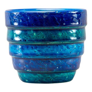 Aldo Londi for Bitossi Small Rimini Blue Planter Pot For Sale