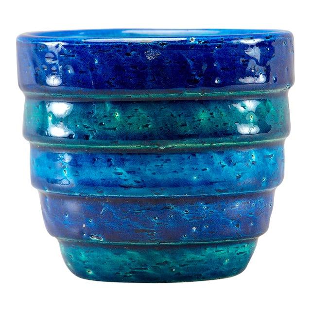 Aldo Londi for Bitossi Small Rimini Blue Planter Pot For Sale