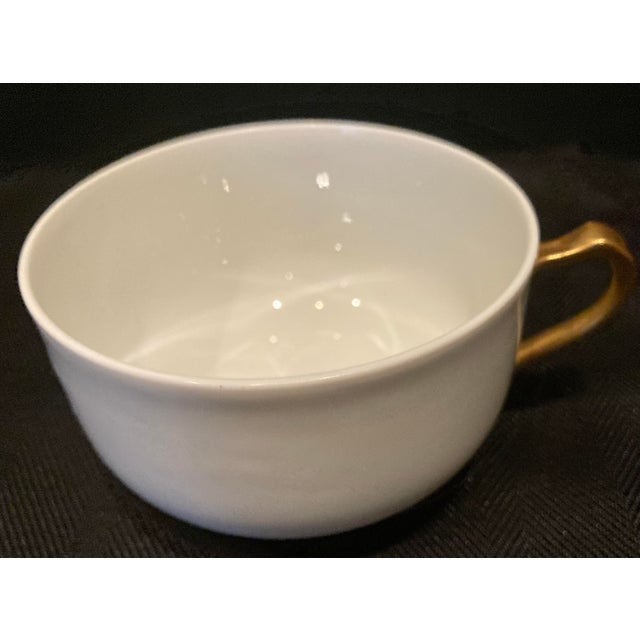 Modern 1930s Haviland & Co Limoges France Porcelain Cups - Set of 6 For Sale - Image 3 of 9