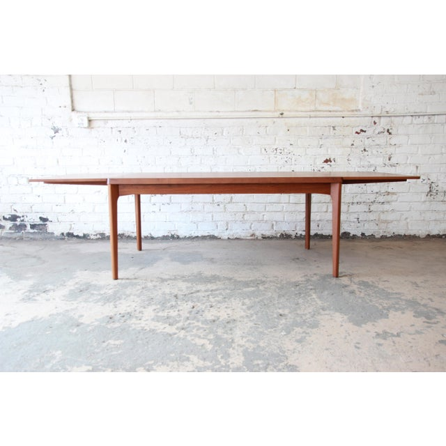 Henning Kjaernulf for Vejle Stole Danish Modern Teak Extension Dining Table - Image 4 of 10