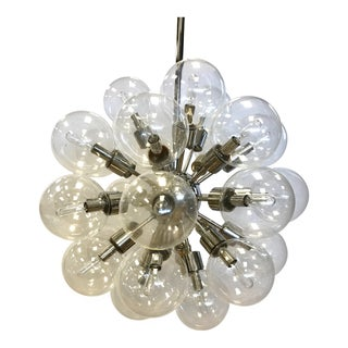 1960s Mid Century Modern 30 Globe Light Sputnik Chandelier For Sale