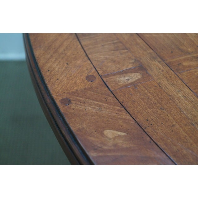 Guy Chaddock Parquet Top Extension Dining Table - Image 3 of 10