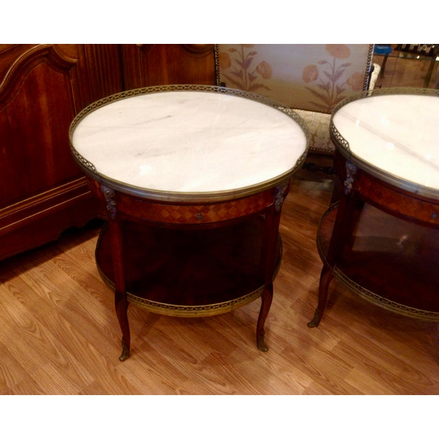 Early 20th Century Pair of Fine French Bouillotte Tables For Sale - Image 5 of 13