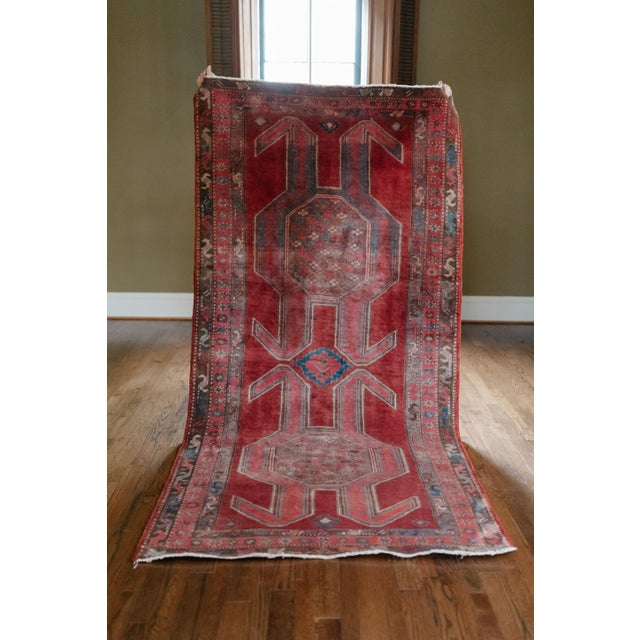 """1940s Vintage Nomadic Persian Rug-4'8'x9'7"""" For Sale - Image 12 of 13"""