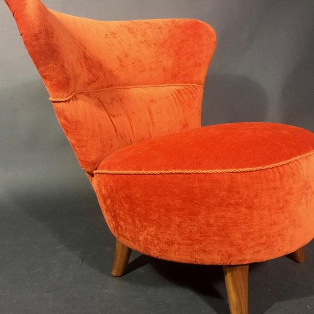 Orange Easy Chair by Oskar Bernströms Möbelfabrik, Sweden 1950s For Sale - Image 8 of 10