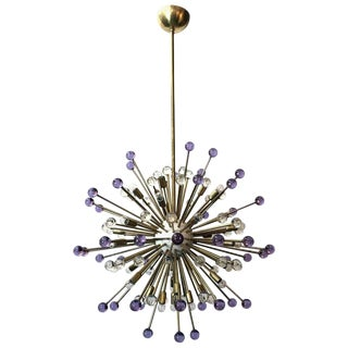 Purple and Clear Burst Sputnik by Fabio Ltd For Sale