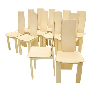 Set of 12 Dining Chairs Attributed to Afra and Tobia Scarpa For Sale