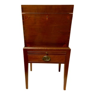18th Century Southern Federal Inlaid Walnut Cellarette Dry Bar For Sale