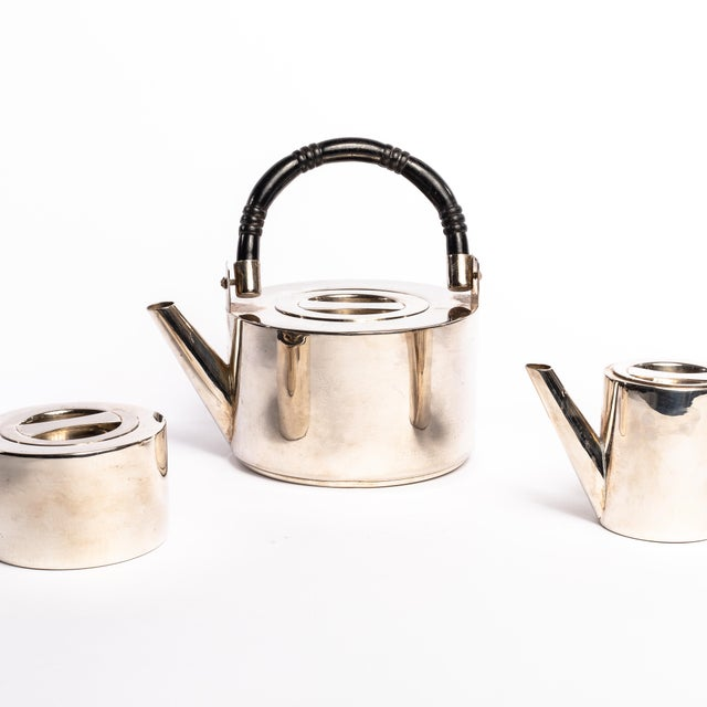 Art Deco Silver Coffee Set - 3 Piece Set For Sale - Image 4 of 5