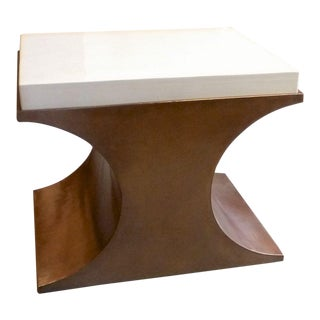Cream Crescent Side Table