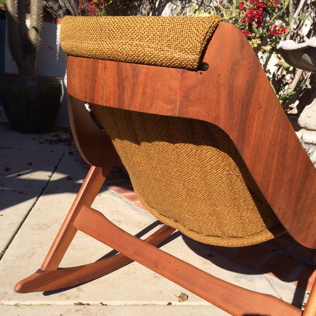 Mid-Century Sculptural Rocking Chair by Jerry Johnson For Sale - Image 7 of 11