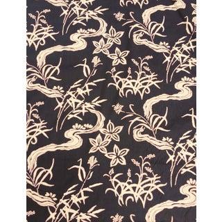Vintage Mid Century Schumacher Ogawa Screenprint Katsura Collection Asian Chinoiserie Fabric For Sale