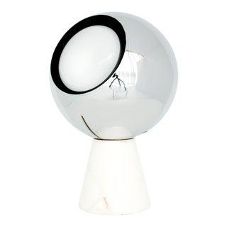 1960s Italian Chrome and Marble Eyeball Lamp For Sale