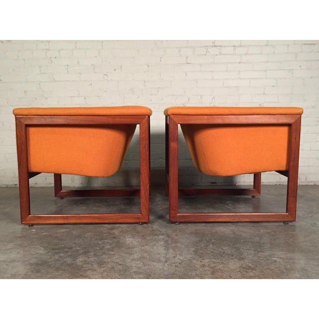 Milo Baughman Mid-Century Modern Floating Cube Chairs - A Pair For Sale In Saint Louis - Image 6 of 10