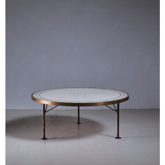 Berthold Muller round mosaic coffee table, Germany, 1960s - Image 2 of 3