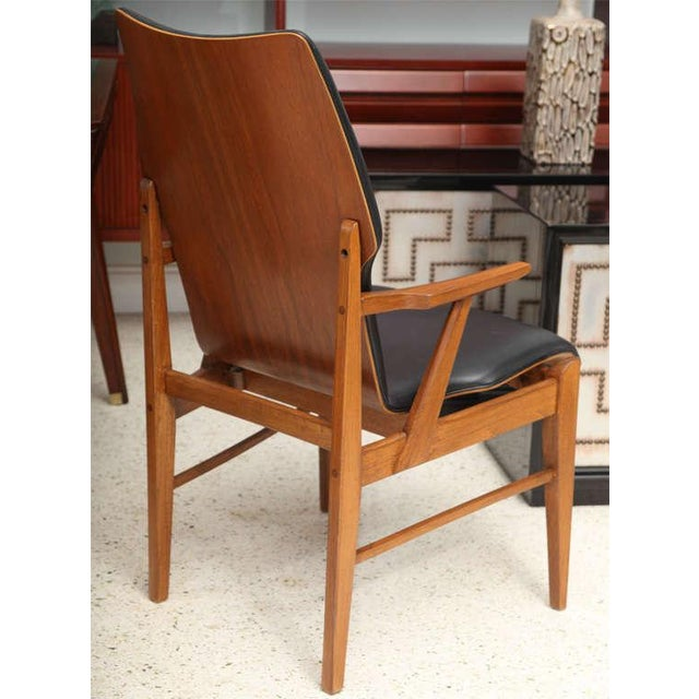 Wood Pair of Danish Modern and Teak Armchairs For Sale - Image 7 of 11