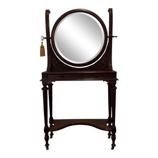 20th Century Traditional Hall Table With Mirror For Sale