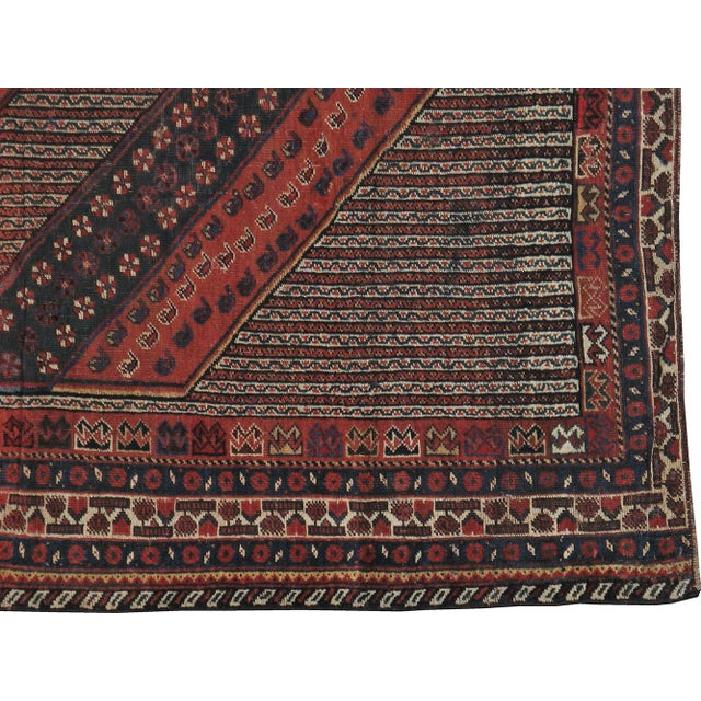 """Antique Persian Distressed Rug - 5'4"""" X 10'1"""" - Image 3 of 4"""