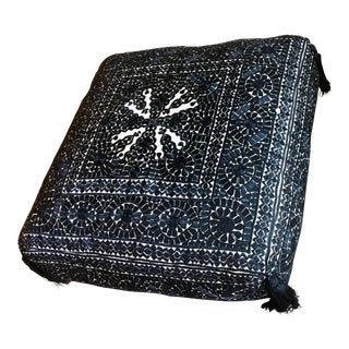 Moroccan Embroidered Floor Cushion For Sale