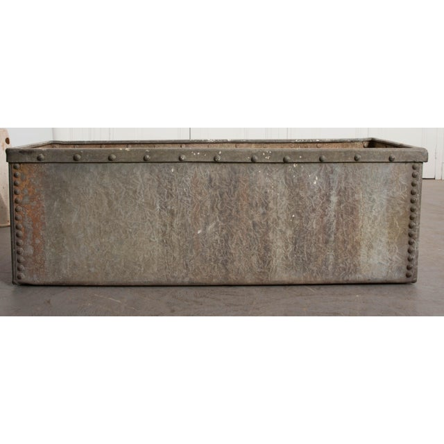 English 19th Century Zinc Trough For Sale - Image 4 of 11