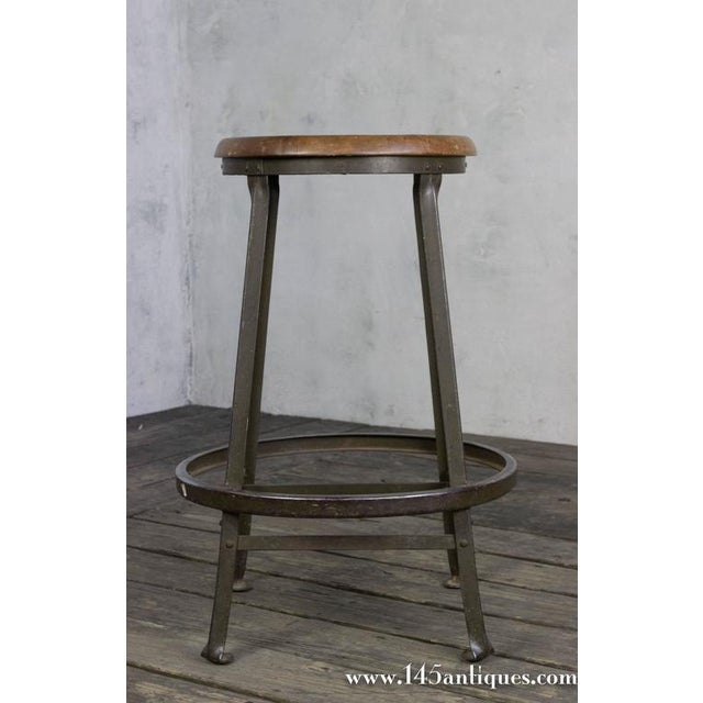 American 1930s Factory Stool - Image 4 of 8